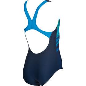 arena Phenix One Piece Swimsuit Girls navy-pix blue